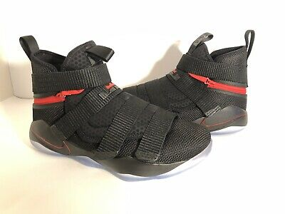 977e872809f5 New Nike Lebron Soldier XI Size 10 Flyease 4E Black University Red AQ3321- 001