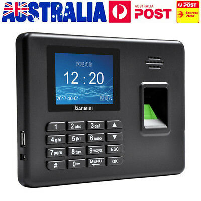 AU Realand Fingerprint Attendance Machine Time Clock Employee Checking-in Reader