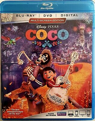 COCO with OVER 2 HOURS OF BONUS FEATURES * BLU-RAY + DVD + DIGITAL *  BRAND NEW