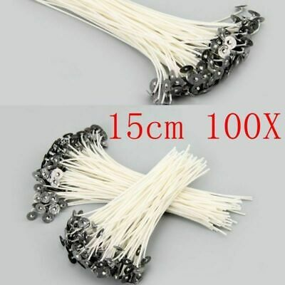 100pcs Candle Wick  DIY Candle Pre Waxed With Sustainers Cotton Making Tools New