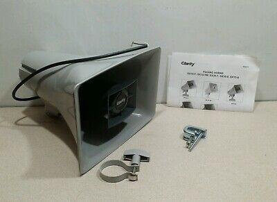 NEW IN BOX CLARITY SX30-T-GY PAGING HORN  30 Watt