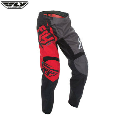 Fly 2017 F-16 MX Motocross Youth Enduro Bike Off Road Pants Trouser - Red/Black