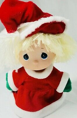 Precious Moments Christmas Holiday Doll Red Hat Dress Santa Collectible Gift 5""