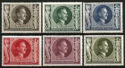 Germany Third Reich 1943 MNH - Hitler's 54th Birthday - Mi-844-849 SG 833-837