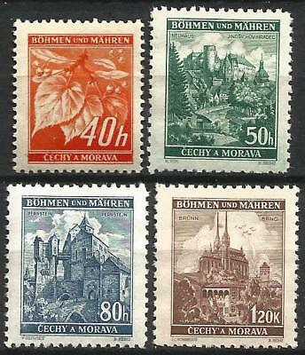 Germany (Third Reich) 1940 MNH - Bohemia Moravia - Defins. Linden & Landscapes