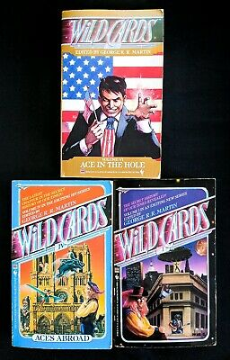 Lot Of 3 George R Martin Books - Wild Cards Ace In The Hole Aces Abroad