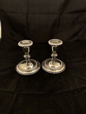 Fisher Sterling Silver Candleholders Pair #828