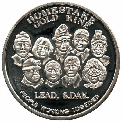 1993 Homestake Gold Mine Lead, S.D. 1 oz .999 Fine Silver Round -Rare!
