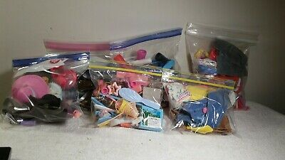 Vtg 80's/ 90's Barbie Accessories Lot brushes Shoe Hangers Glasses and more