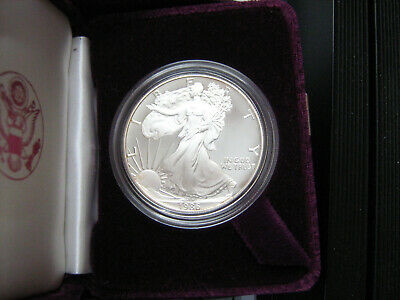 1986 PROOF SILVER EAGLE COIN W/ OGP    FIRST YEAR OF ISSUE  #zf1