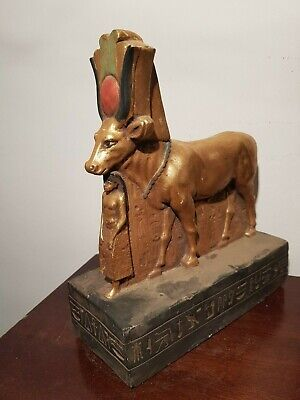 Rare Antique Ancient Egyptian Statue Goddess Hathor pharaoh hormheb
