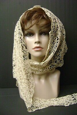Antique Brussels Lace Capelet, Point de Gaze, Wedding Attire, Victorian,