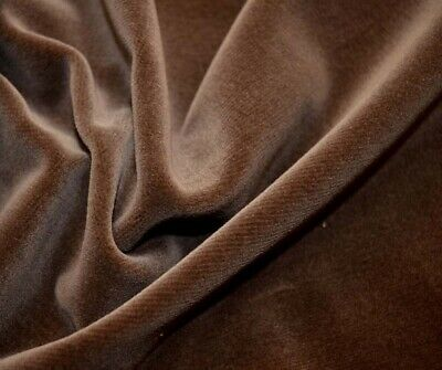 REMNANT Brown Mink Velvet Fabric 54 inches x 4.5 yards