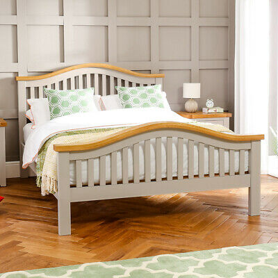 Downton Grey Painted Arch Rail 6ft Super King Bed - Bedroom Furniture - DT16