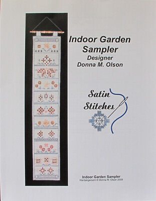 Satin Stitches Indoor Garden Sampler Hardanger Chart/Pattern