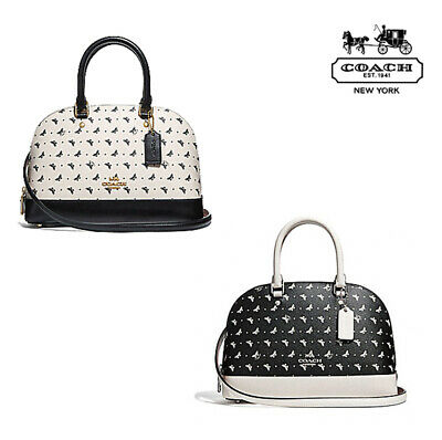 e1d32f12c52f NWT COACH Butterfly Dot Print Mini Sierra Satchel Crossbody Cute Purse  F29804