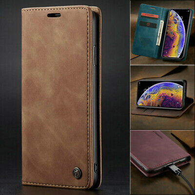 MAGNETIC FLIP COVER Leather Wallet Card Case For iPhone XS MAX/8/7/6s Plus