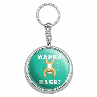 Wanna Hang Want Sloth Funny Humor Portable Travel Ashtray Keychain