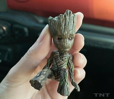 "Brand New Cute 2"" Sitting Baby Groot Guardians Of The Galaxy Figure US Shipping"