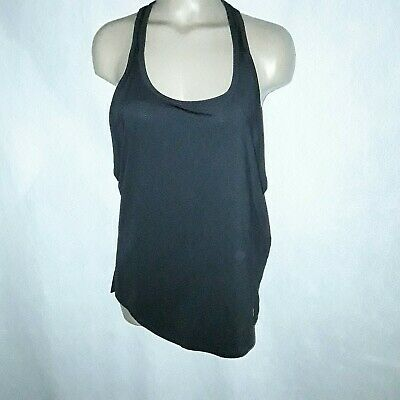 986319a975eac Under Armour Mesh Heat Gear Black Loose Fit Running Tank Top Women s Size  Small