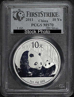 2011 China 10 Yuan Silver Panda PCGS MS-70 First Strike -139823