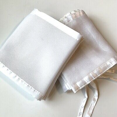 Breathable Baby Mesh Crib Safety Bumper Liner White P15