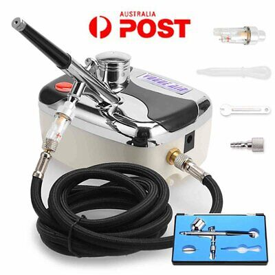 Air Brush Compressor Dual Action Spray Gun Airbrush Kit 0.3mm Needle Art Set AU.