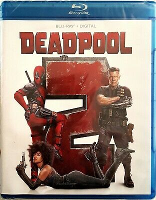 DEADPOOL 2 with BONUS FEATURES * BLU-RAY + DIGITAL * BRAND NEW FACTORY SEALED