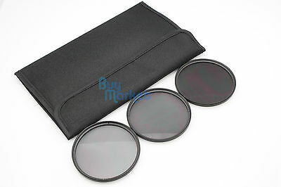 New 77mm ND2+ND4+ND8 Filter ND (3pcs) Kit Set with FREE CASE (TRACKING NUMBER)