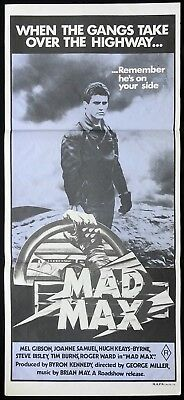 MAD MAX Original Daybill Movie Poster MEL GIBSON George Miller 1st Release