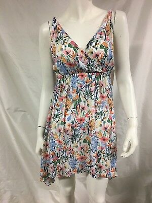 5c45cd22e9cca New Womens LUCKY BRAND Swimwear Size L Large Garden Dress Floral Print Cover  Up