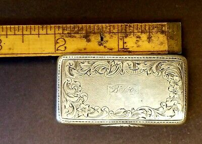 Sterling Silver antique patch or snuff box, 1851-1862