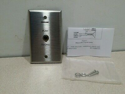 Lot of 10 NEW DUKANE 9A1765 CALL IN SWITCH, SINGLE PUSH BUTTON 1 GANG
