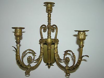 Antique French Bronze Wall Candle Holder.