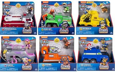 PAW Patrol ULTIMATE RESCUE Vehicle and Figure you choose , chase, skye rocky etc