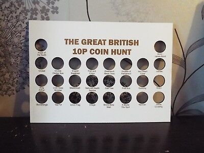 The Great British 10p Coin Hunt  Display Board Fits A4 Frame