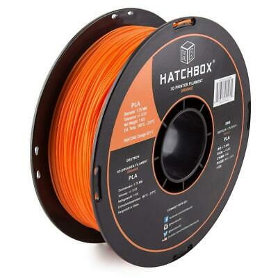 HATCHBOX 3D PLA-1KG1.75-ORN PLA Printer Filament, Dimensional Accuracy +/-...