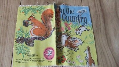 VINTAGE Rag Cloth Book A Bankcroft Baby's Book *IN THE COUNTRY*