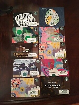 2018 Starbucks Gift Cards Lot - Set of 10 Holiday Cards  - NEW; No Value
