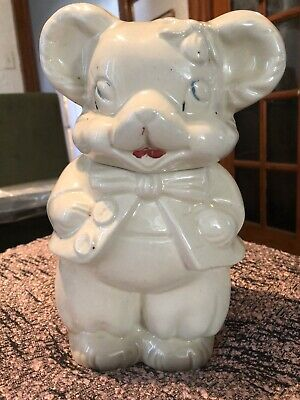 Vintage Large Double Faced Bear Cookie Jar
