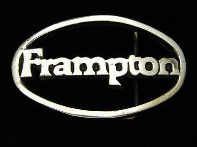 PJ03142 VINTAGE 1970s **FRAMPTON** MUSIC COMMEMORATIVE SOLID BRASS BELT BUCKLE