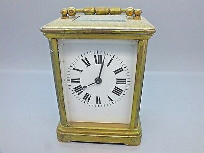 Late 19th Century English Brass Carriage Clock c1890