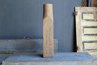 Antique Large Wooden #4 Powell Industrial Foundry Casting Mold Antiques Architectural & Garden Steampunk