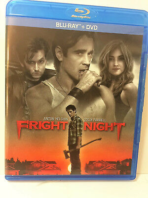 Fright Night Like New  Dvd + Blu Ray - 2 Discs Never Watched!