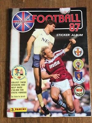 Album figurine Panini FOOTBALL 87 COMPLETE sticker football calciatori wc wm 86