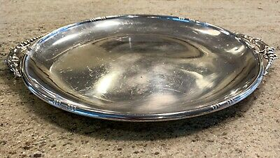 Rare Currier & Roby NY Antique Round Sterling Tray Jensen - esque