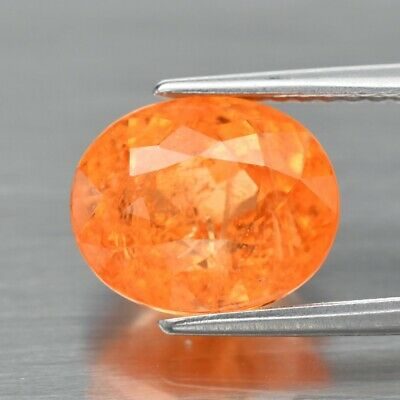 4.01ct 9.4x7.8mm Oval Natural Fanta Orange Spessartite Garnet, Namibia