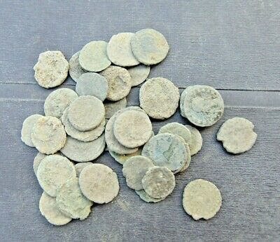 36 pieces to be cleaned Roman coins LOT!