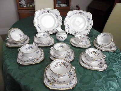 Tuscan 33 piece tea set in the Exotic birds pattern.