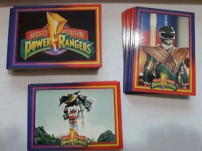 Mighty Morphin Power Rangers 1990s Series 1 Set Trading Cards (1-72)